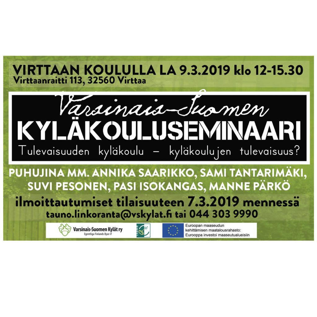 mainos Varsinais-Suomen kyläkouluseminaari