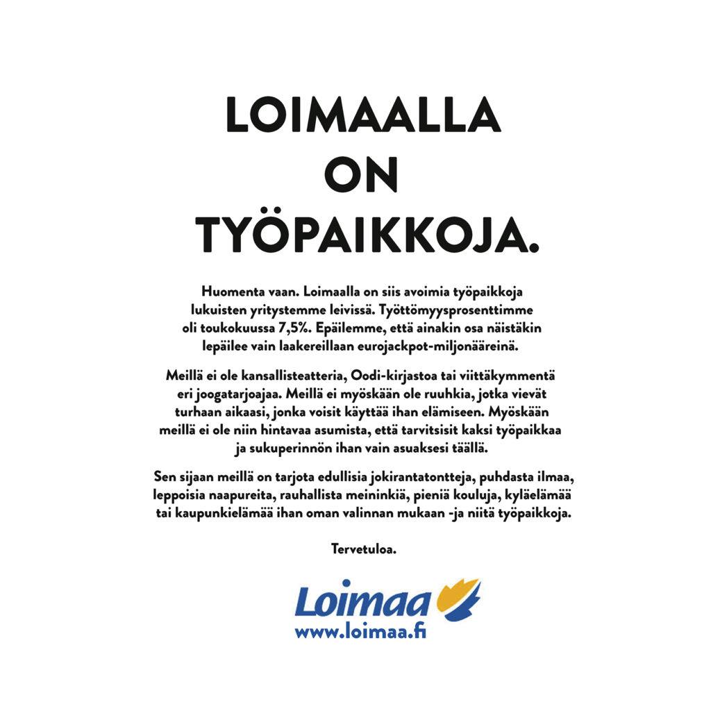 mainosehdotus Loimaalle