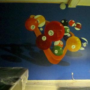 seinämaalaus, Virttaan biljardikerho