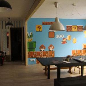 seinämaalaus, yksityiskoti