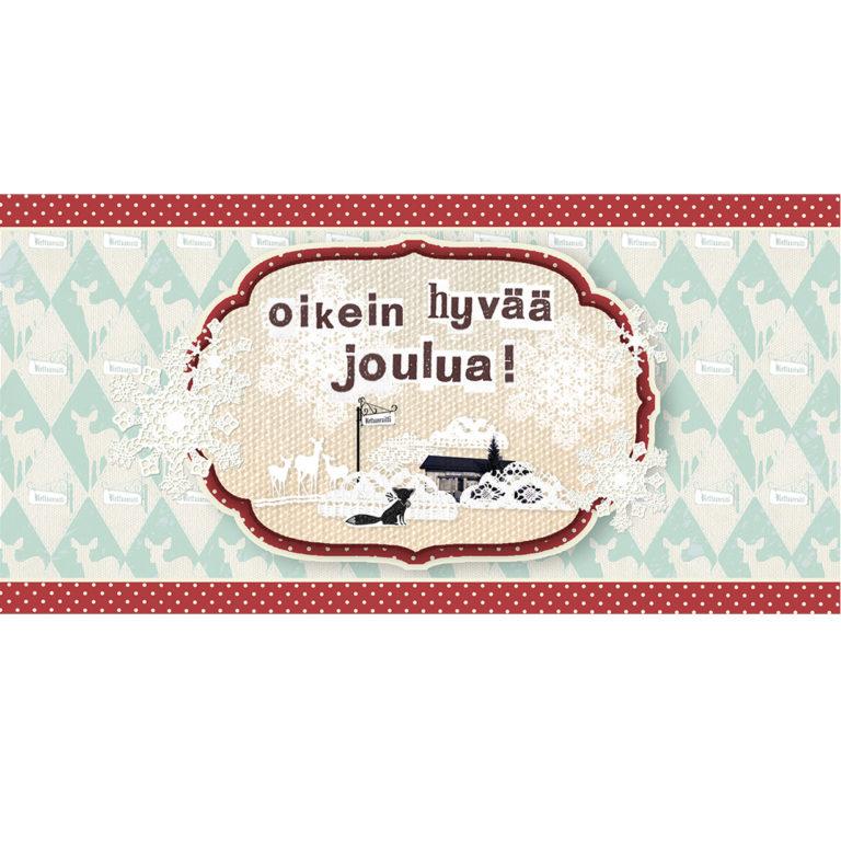 joulukortti Virttaan kyläyhdistyksen toiminnan tukemiseen